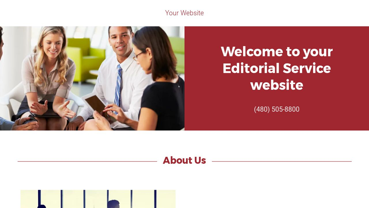Editorial Service Website: Example 1
