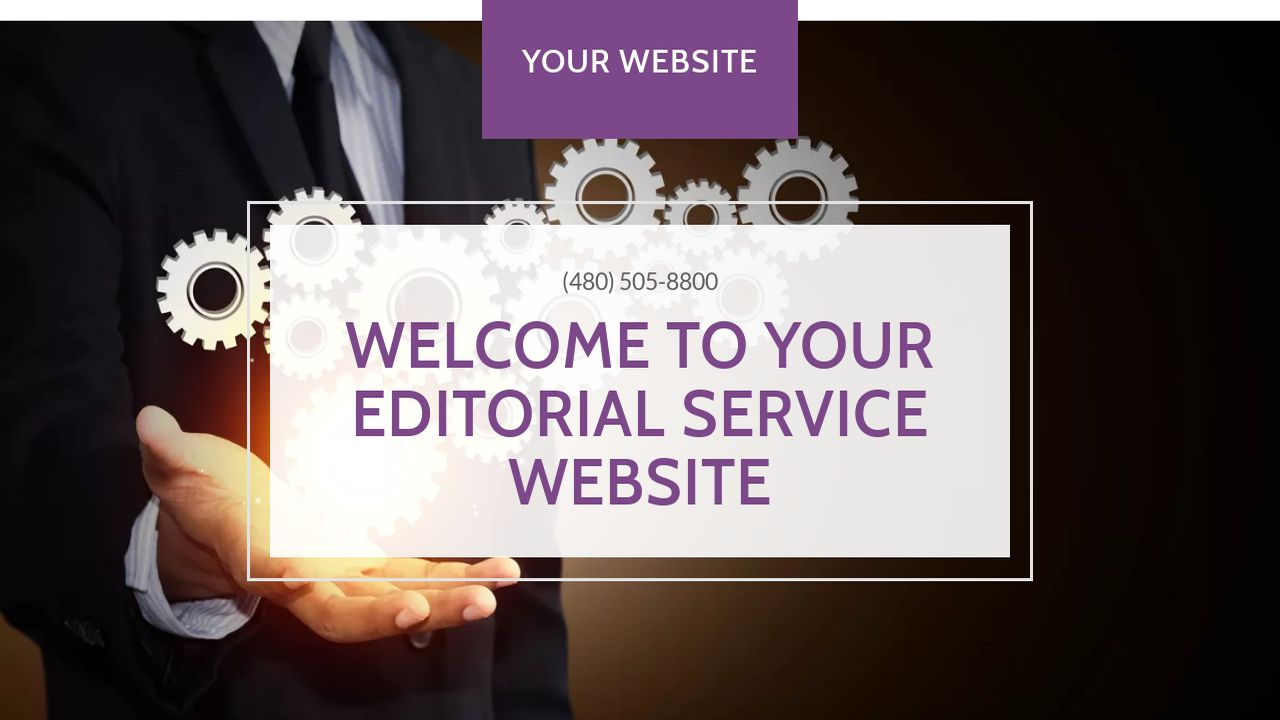 Editorial Service Website: Example 11