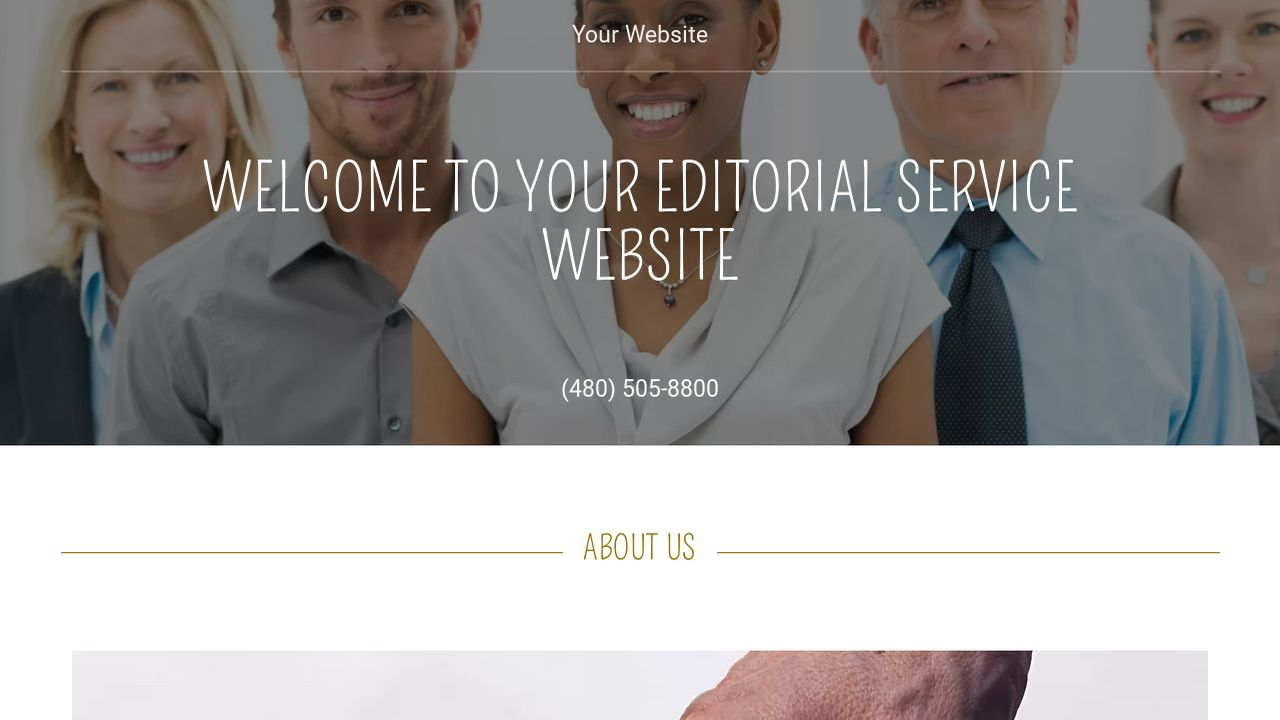 Editorial Service Website: Example 13