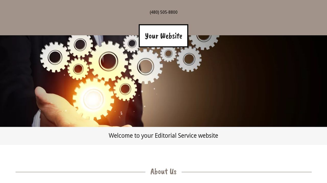 Editorial Service Website: Example 2
