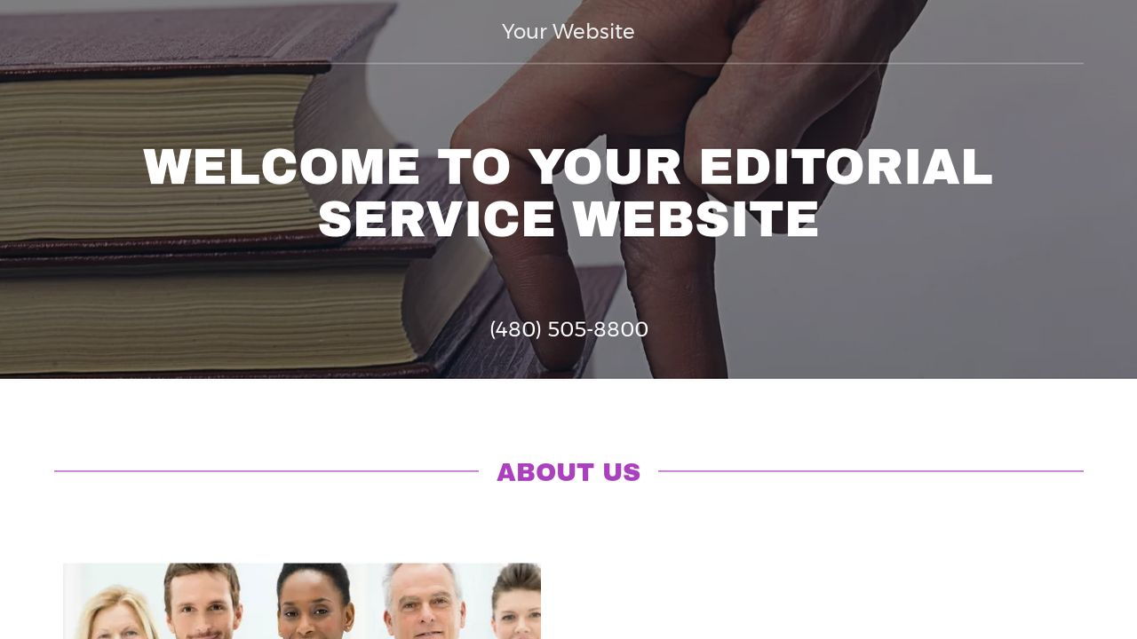 Editorial Service Website: Example 6