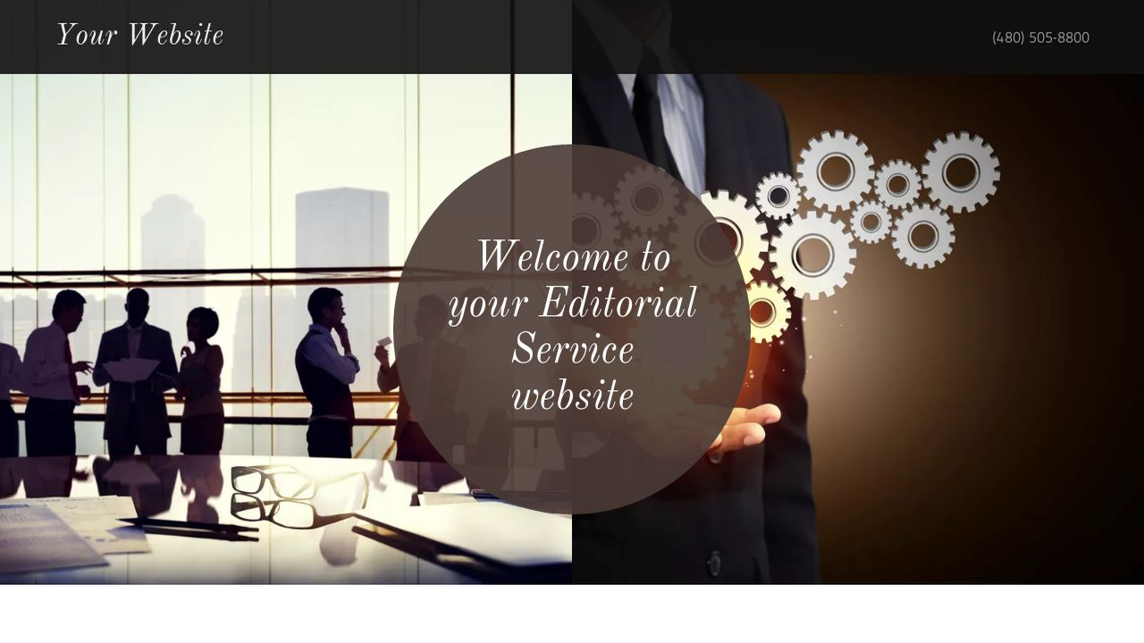 Editorial Service Website: Example 7
