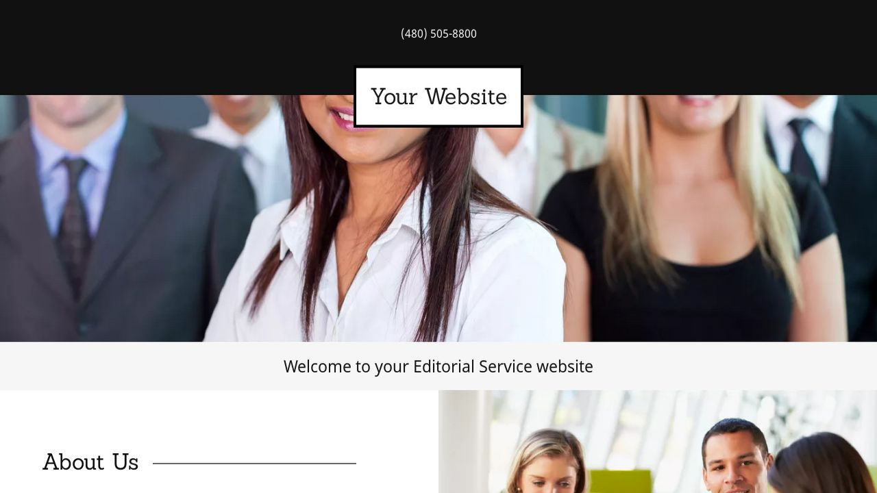 Editorial Service Website: Example 9