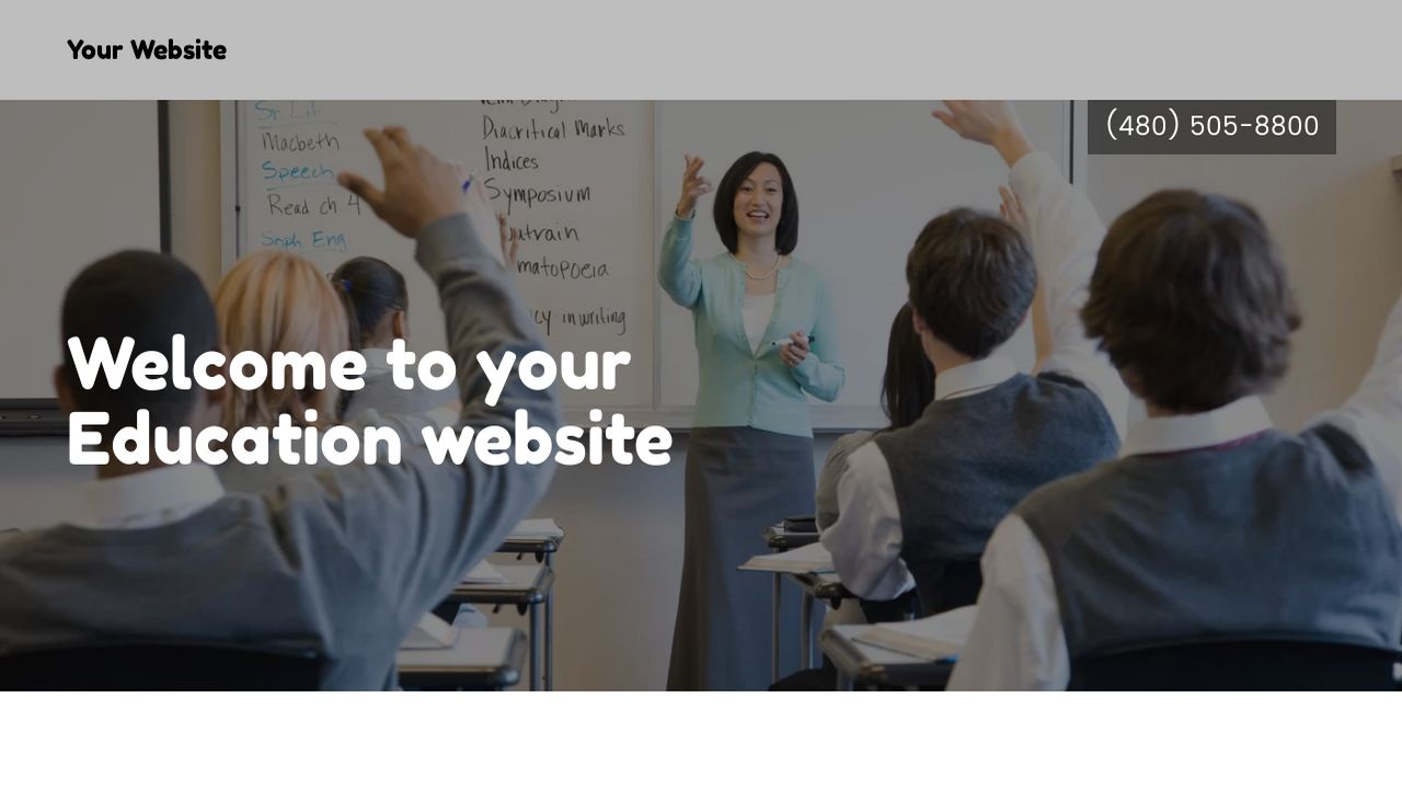Education Website: Example 14