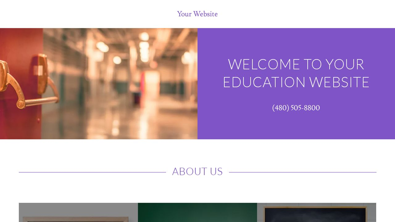 Education Website: Example 16