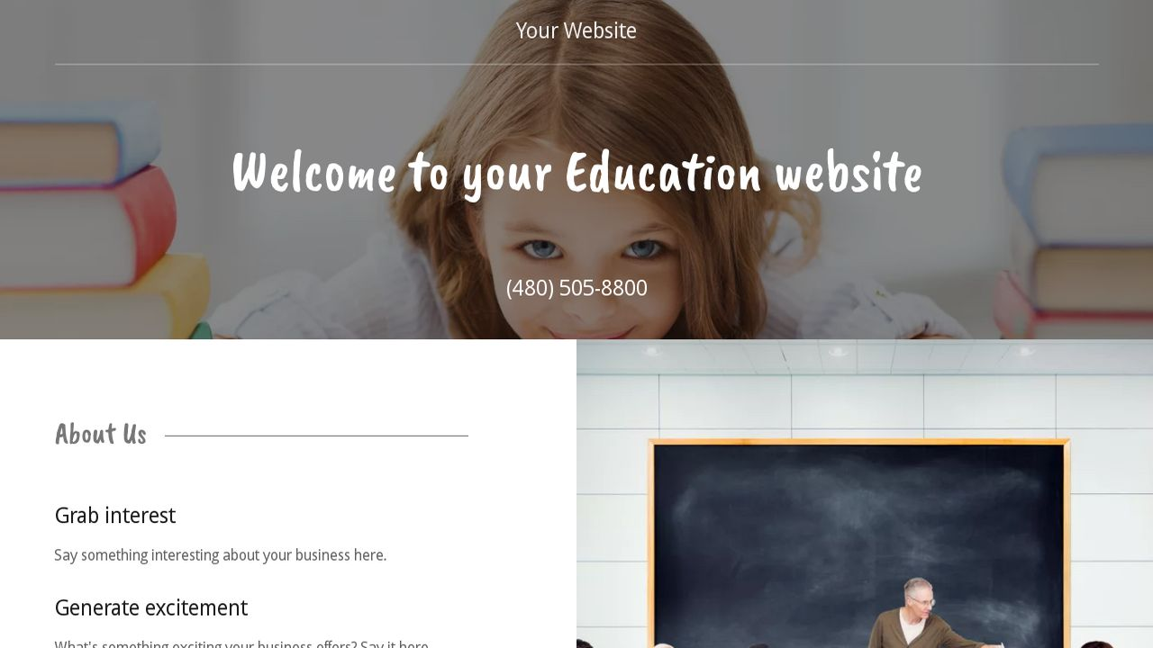 Education Website: Example 17
