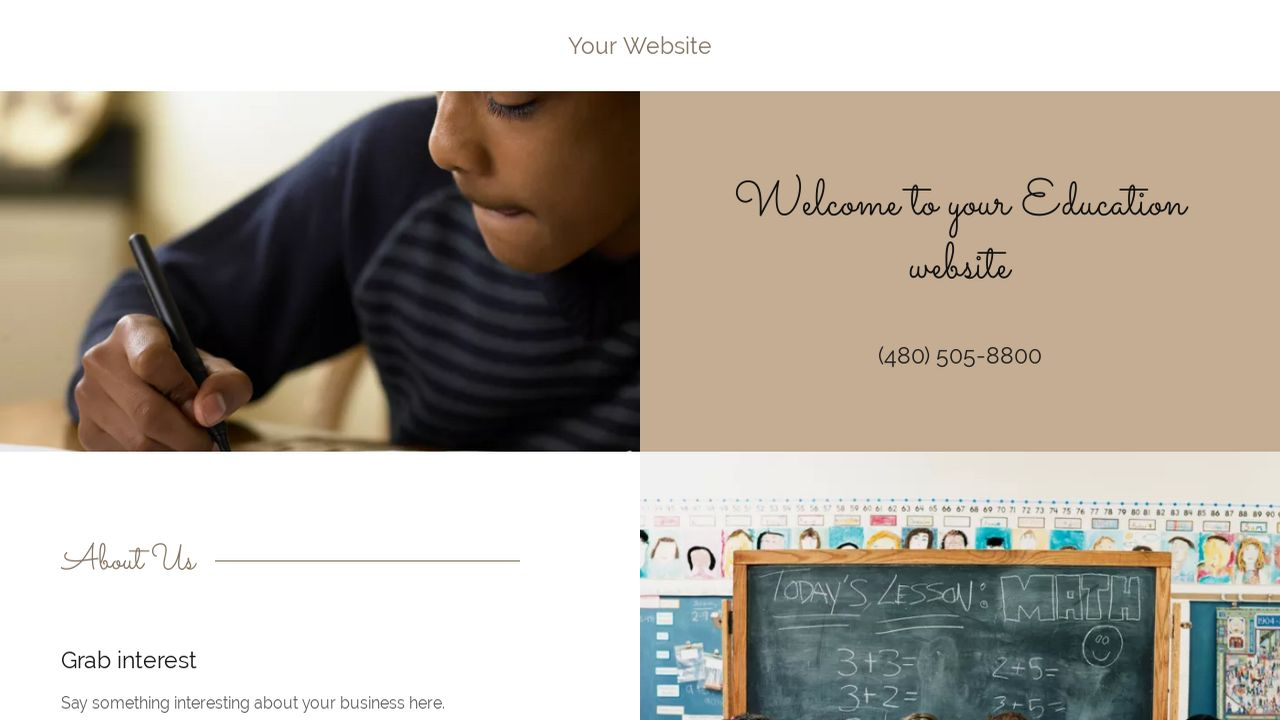 Education Website: Example 2