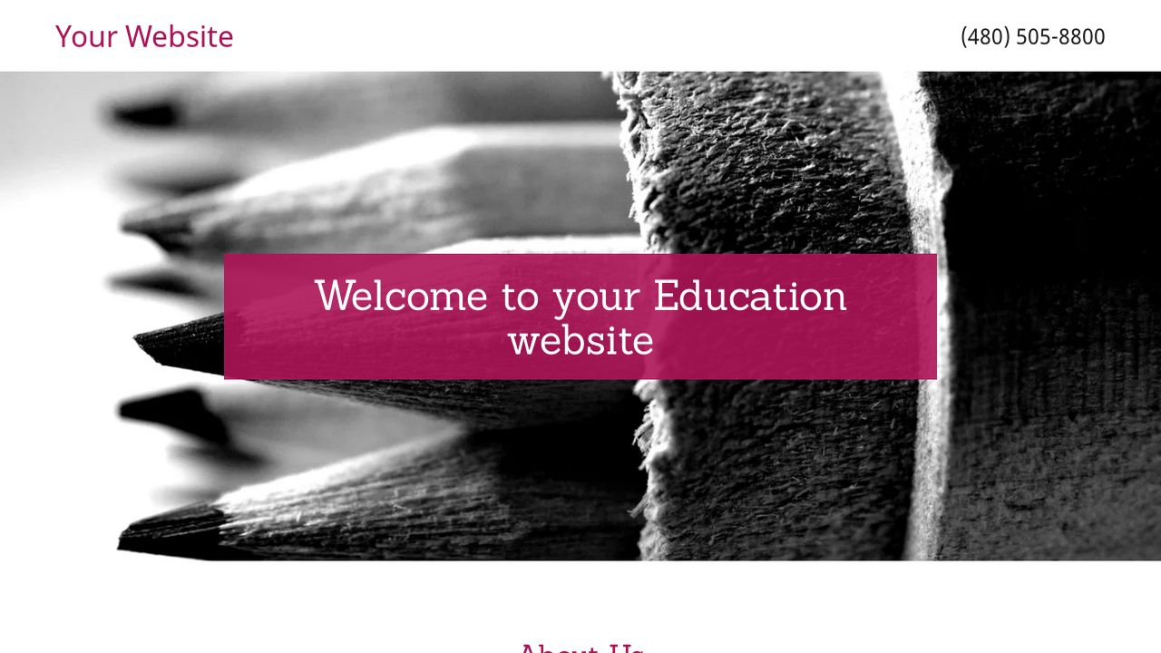 Education Website: Example 5