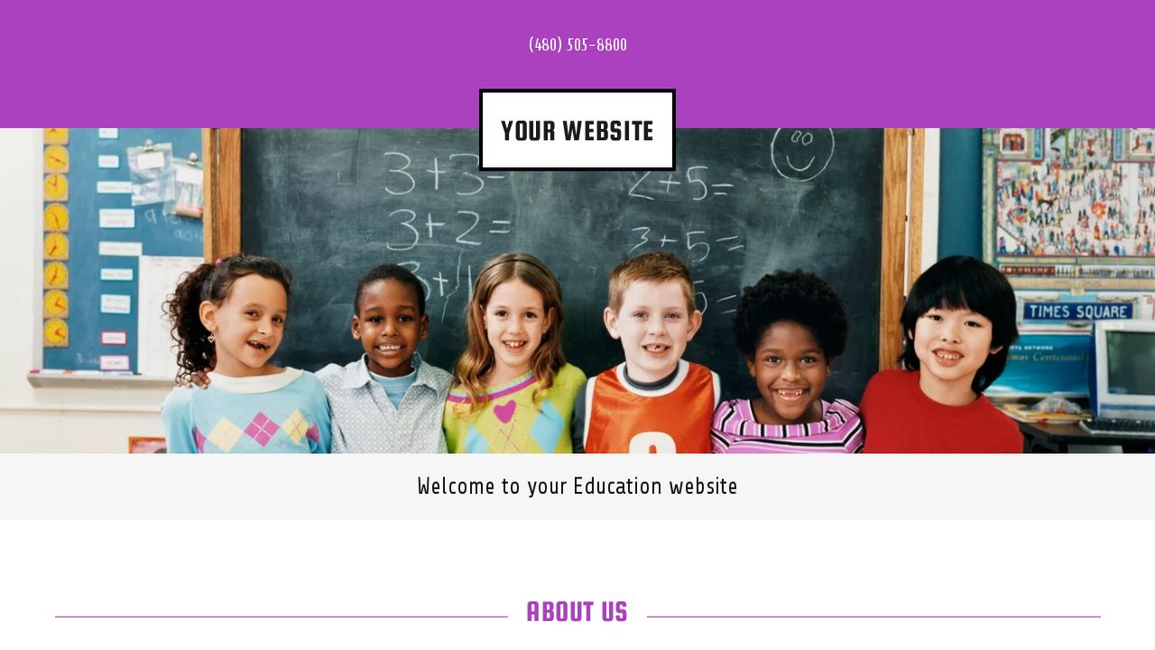 Education Website: Example 6