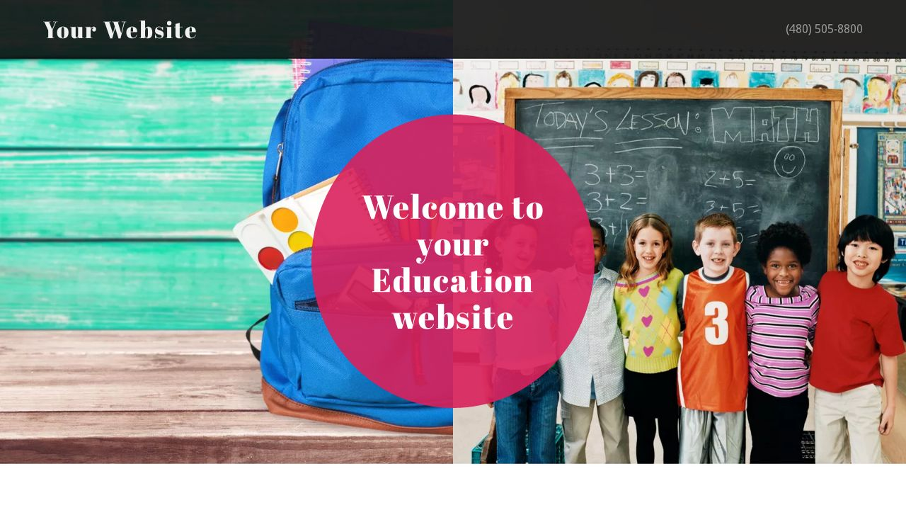 Education Website: Example 8