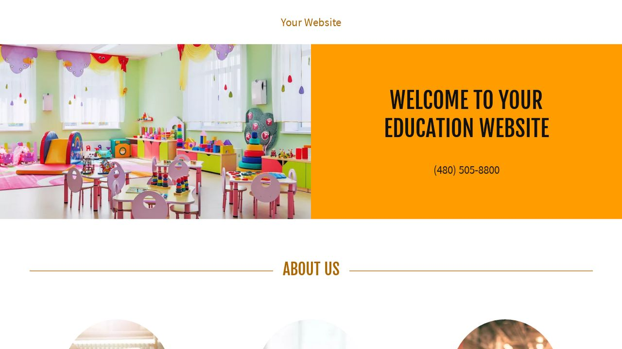 Education Website: Example 9