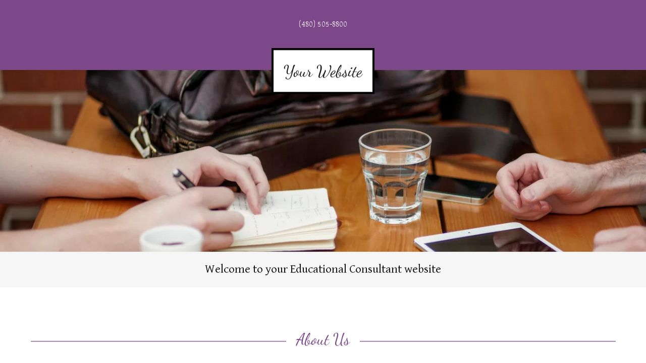 Educational Consultant Website: Example 12