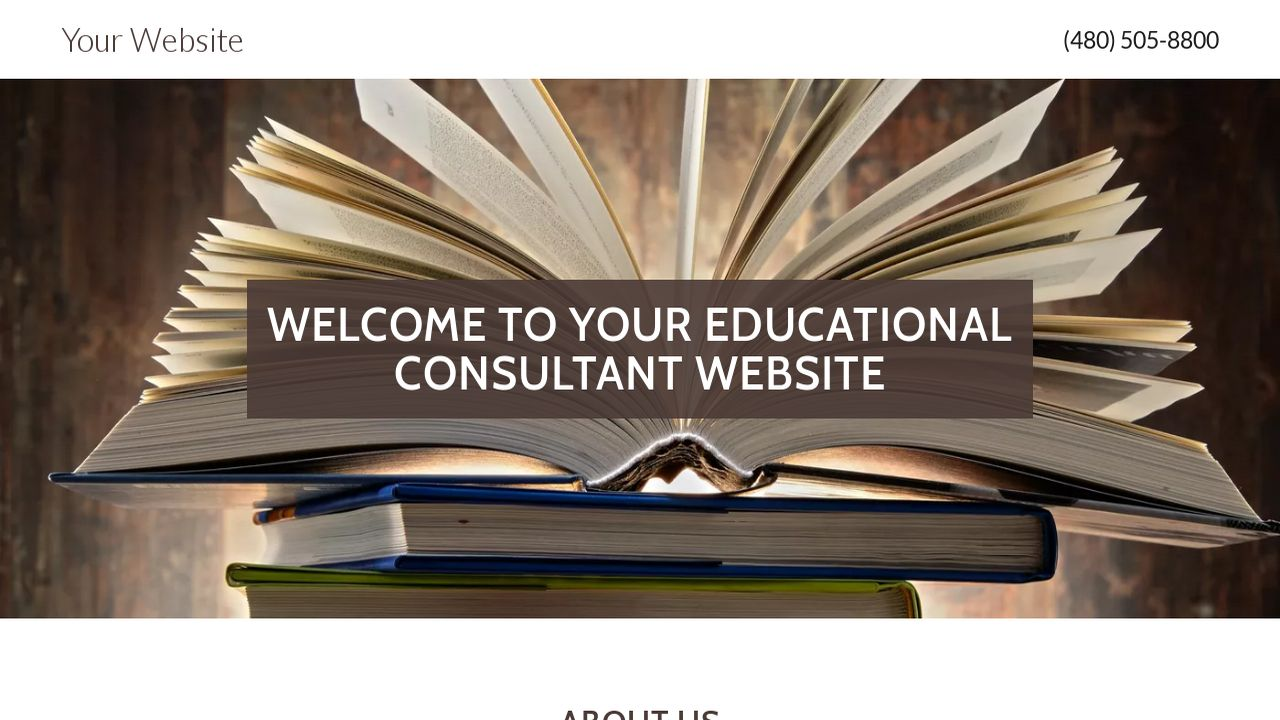 Educational Consultant Website: Example 15