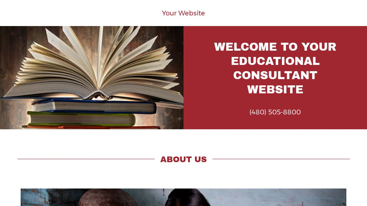 Educational Consultant Website: Example 16