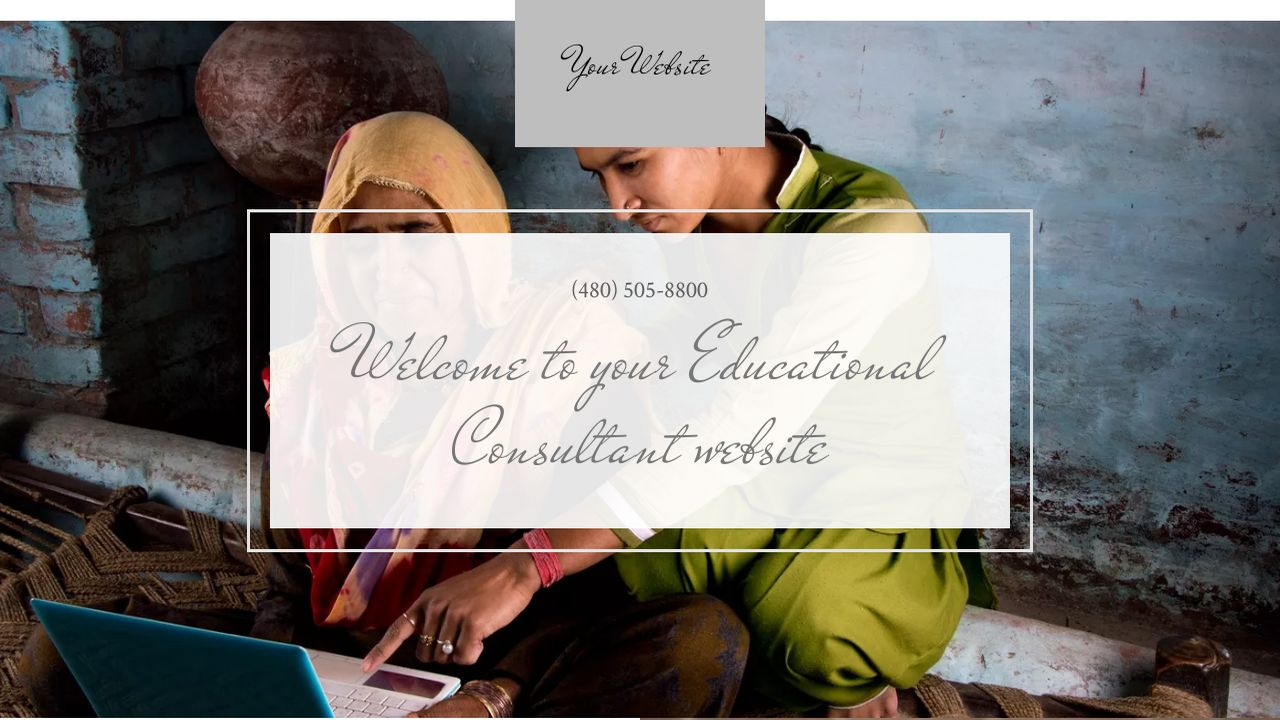 Educational Consultant Website: Example 18