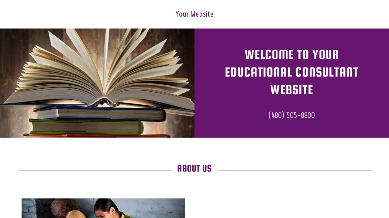 Educational Consultant Website: Example 2