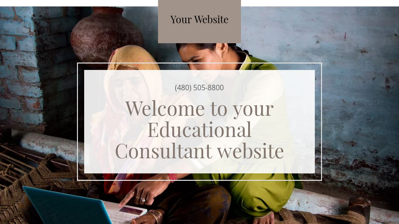 Educational Consultant Website: Example 4