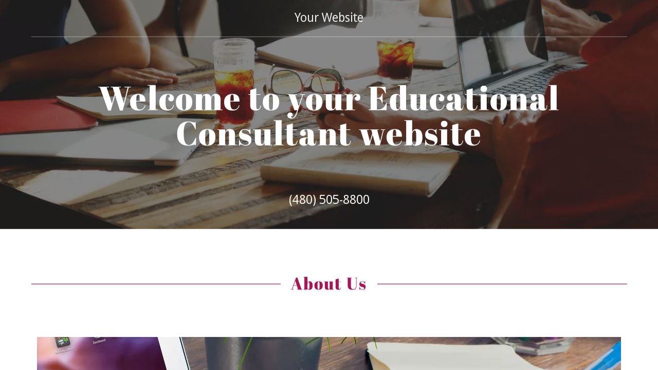 Educational Consultant Website: Example 6