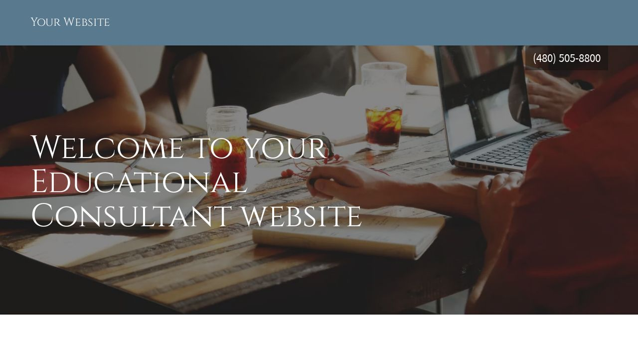 Educational Consultant Website: Example 7