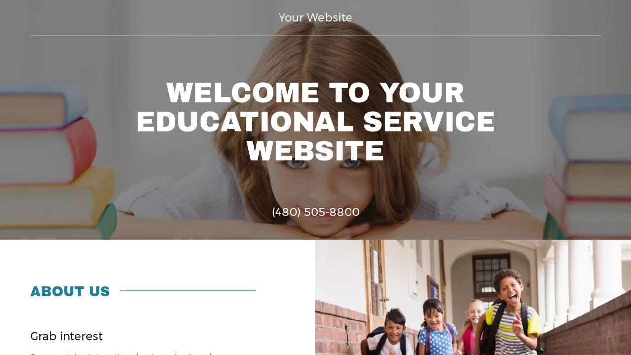 Educational Service Website: Example 15