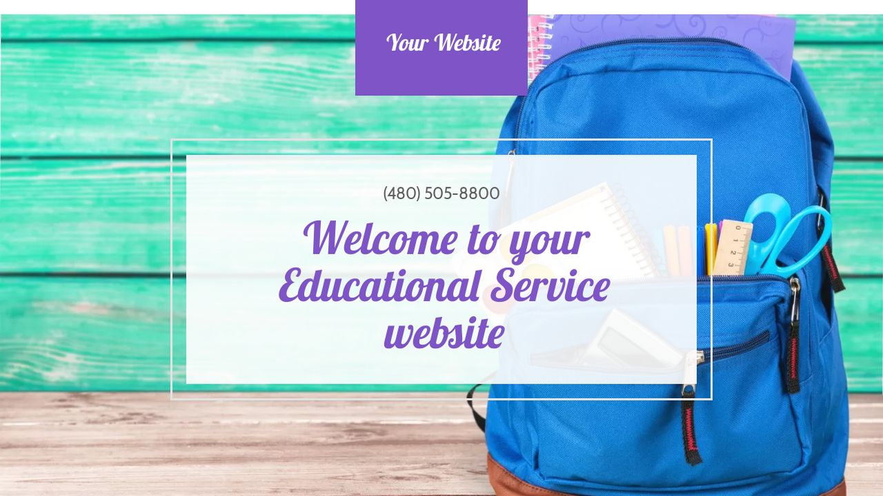 Educational Service Website: Example 18