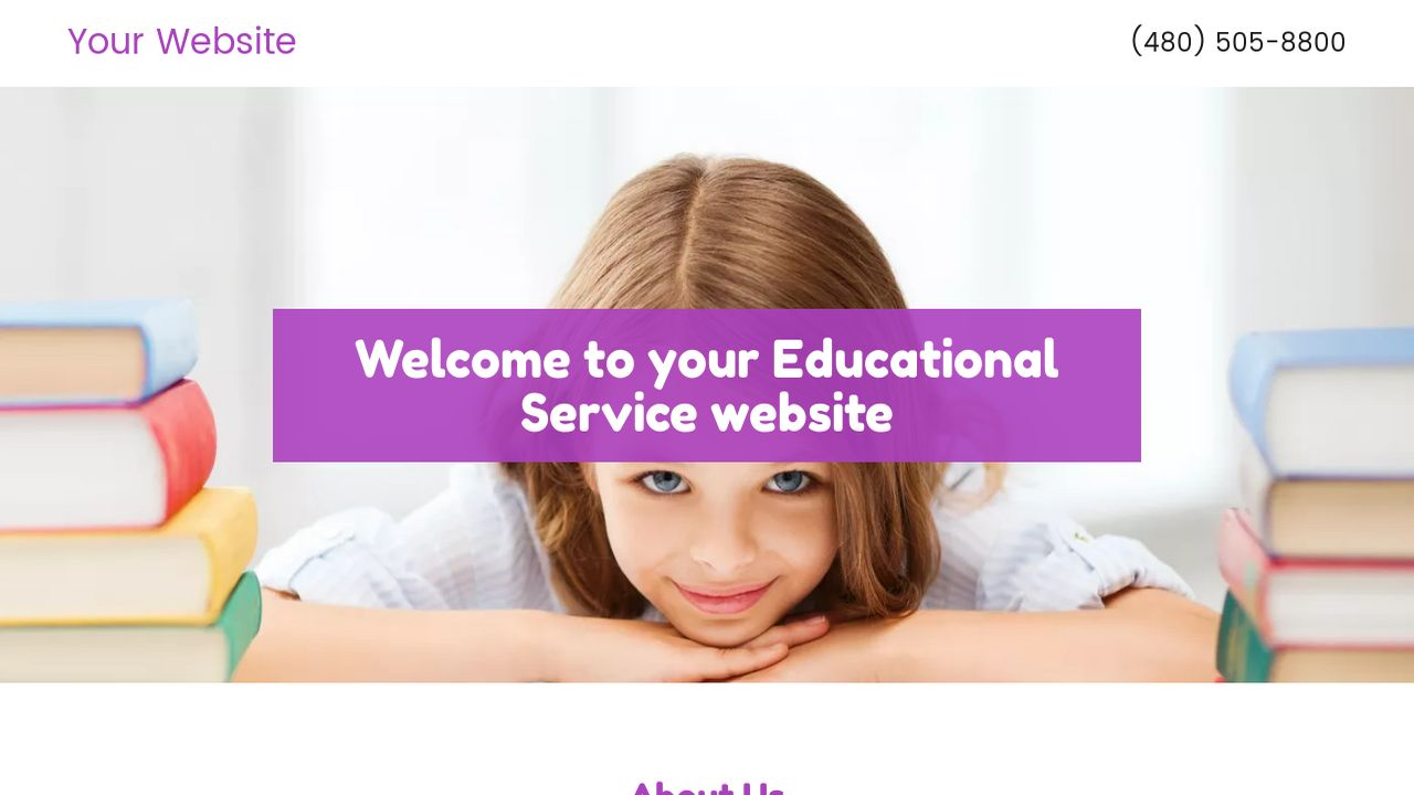 Educational Service Website: Example 2
