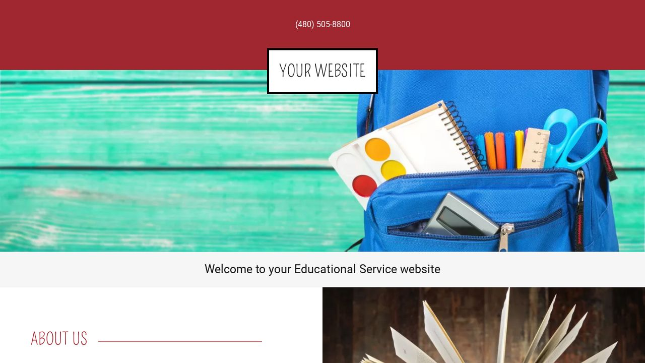 Educational Service Website: Example 5