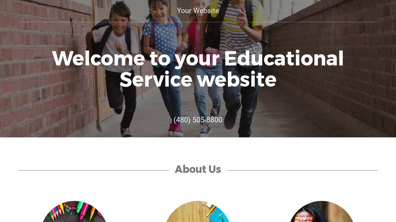 Educational Service Website: Example 8