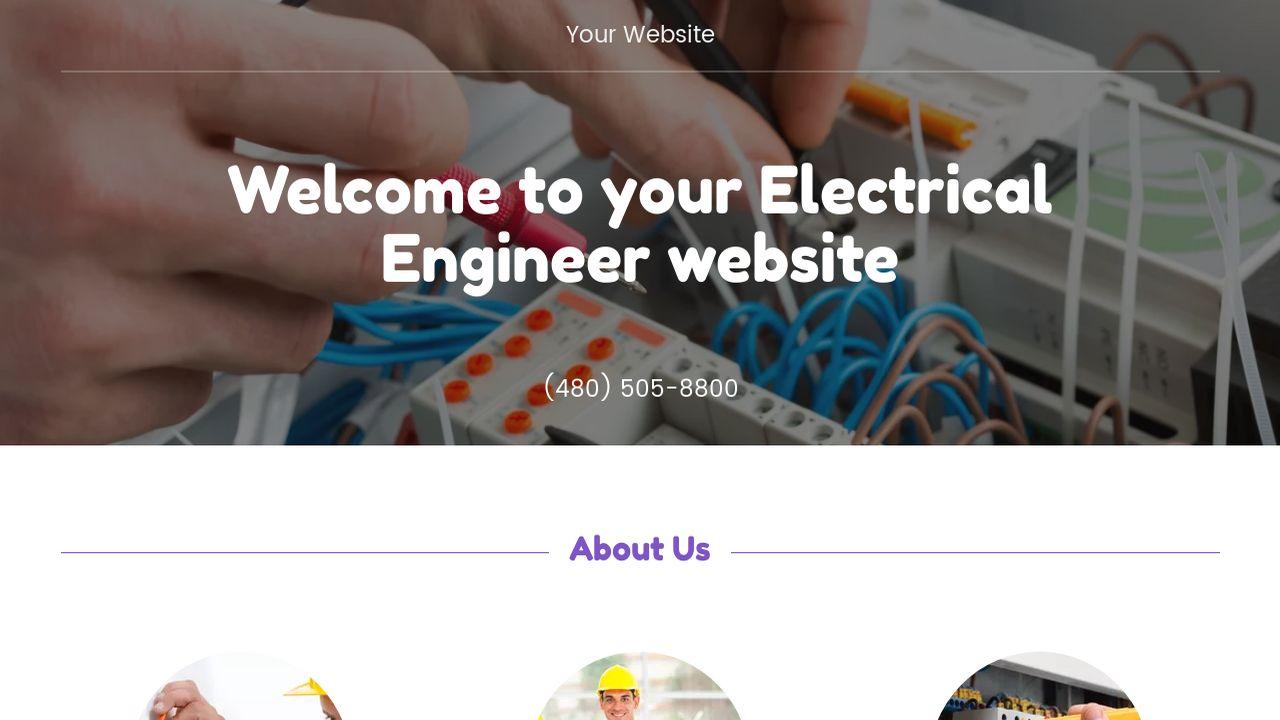 Electrical Engineer Website Templates | GoDaddy