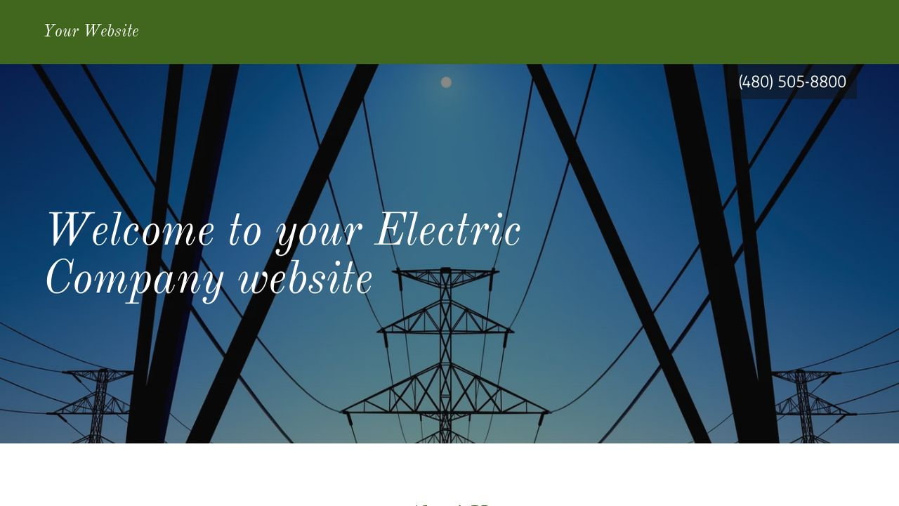 electric company website templates godaddy. Black Bedroom Furniture Sets. Home Design Ideas