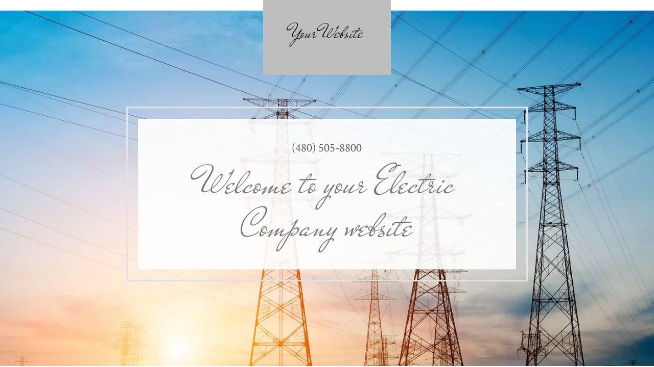 Electric Company Website Templates | GoDaddy