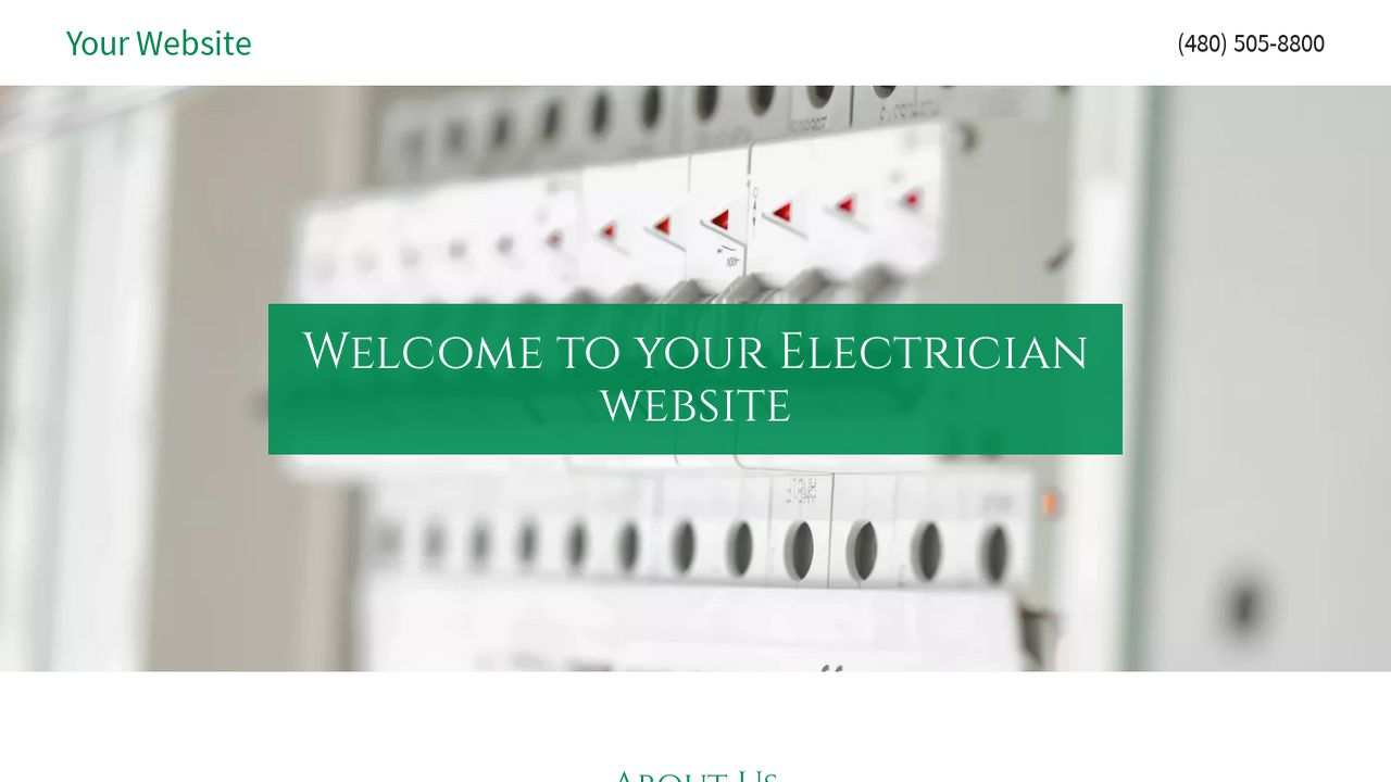 electrician website templates godaddy