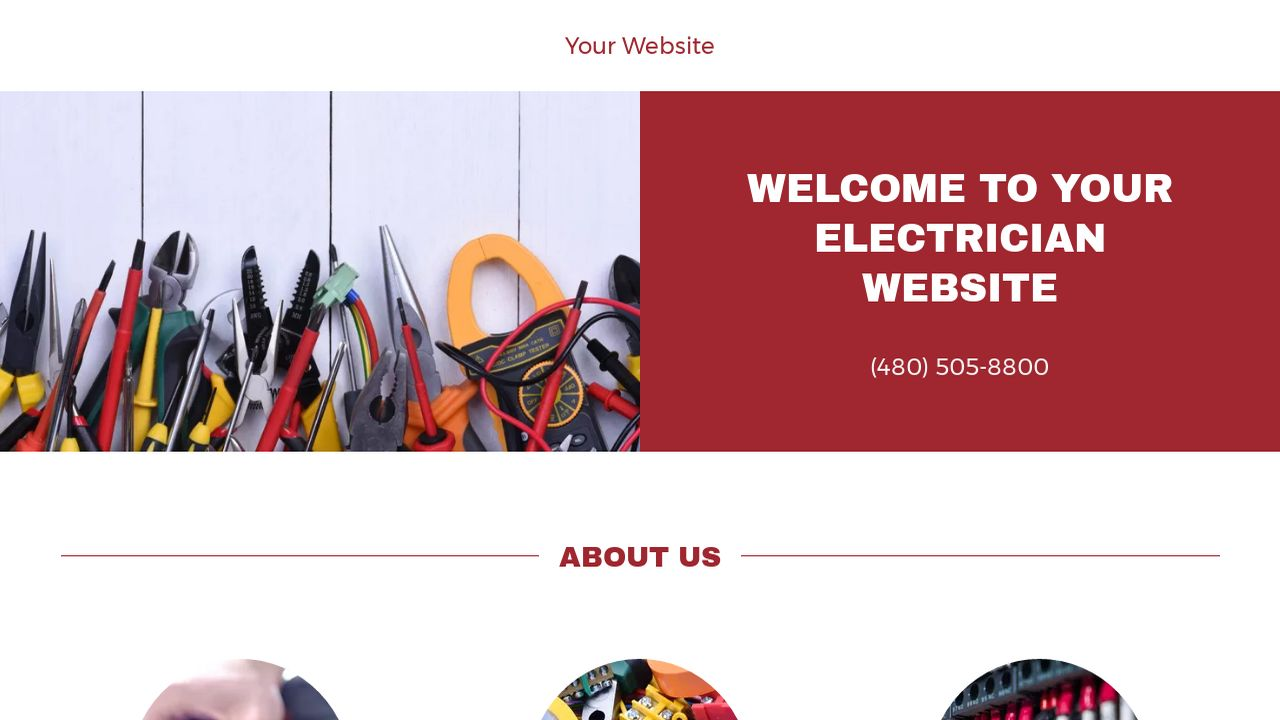 electrician website templates godaddy. Black Bedroom Furniture Sets. Home Design Ideas