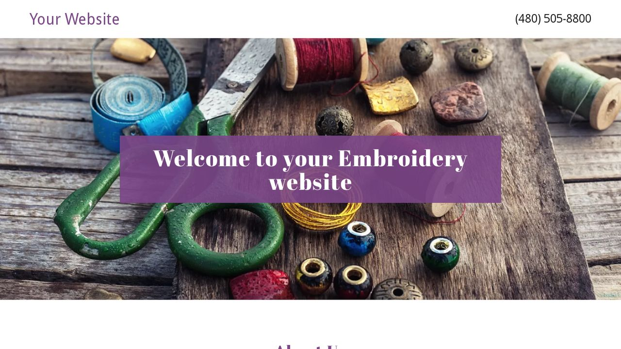 Embroidery Website: Example 11