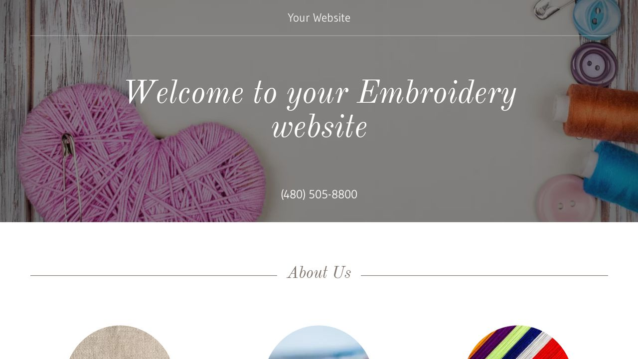 Embroidery Website: Example 14