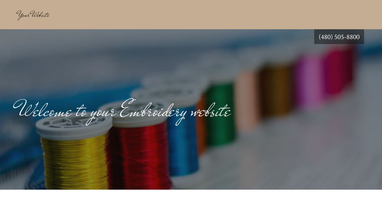 Embroidery Website: Example 15
