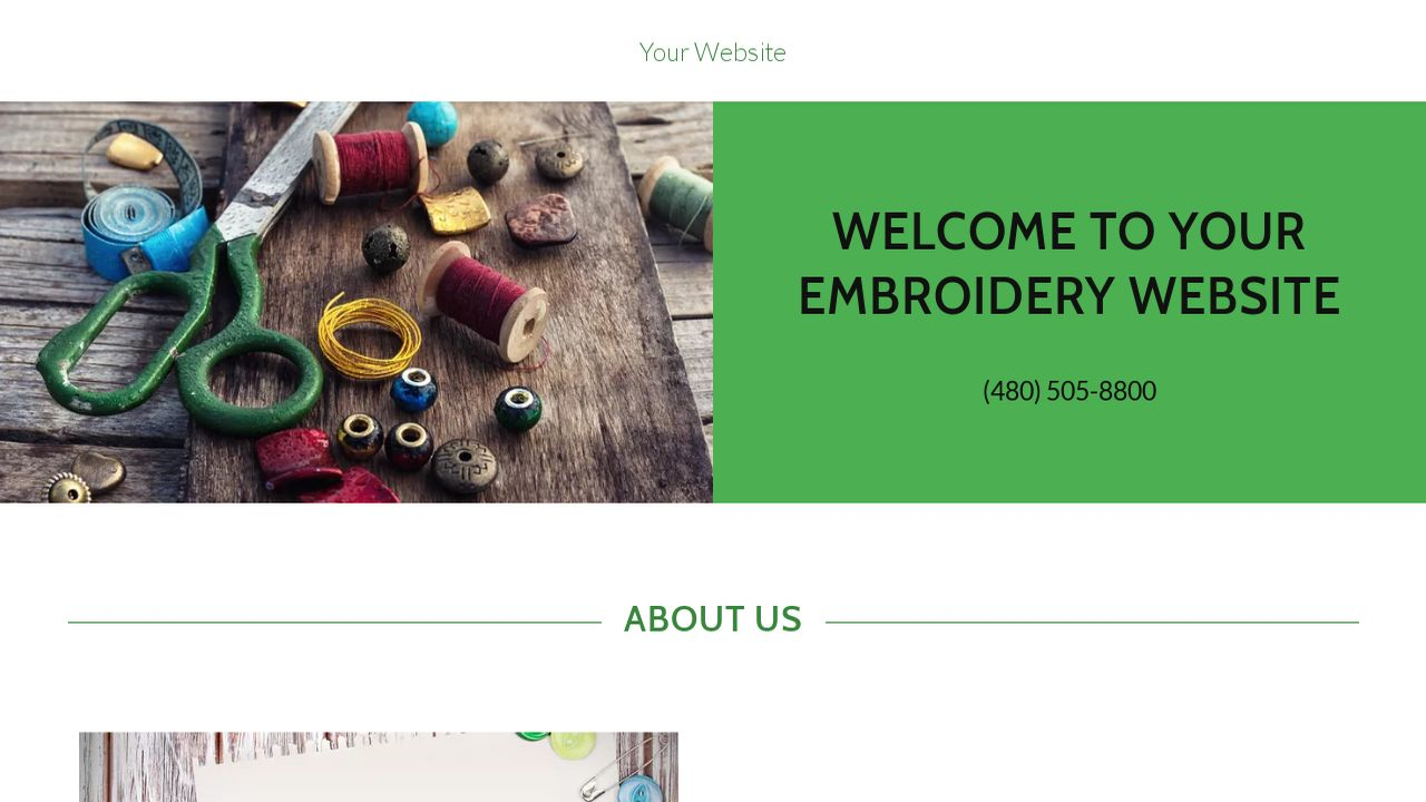 Embroidery Website: Example 16