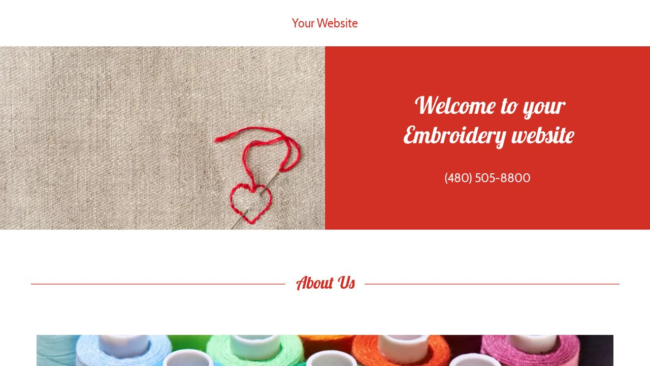 godaddy ecommerce templates - embroidery website templates godaddy