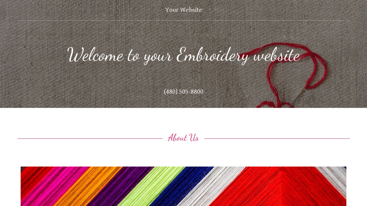 Embroidery Website: Example 7