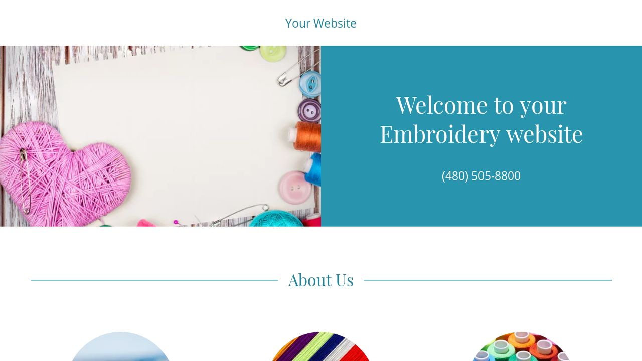 Embroidery Website: Example 9