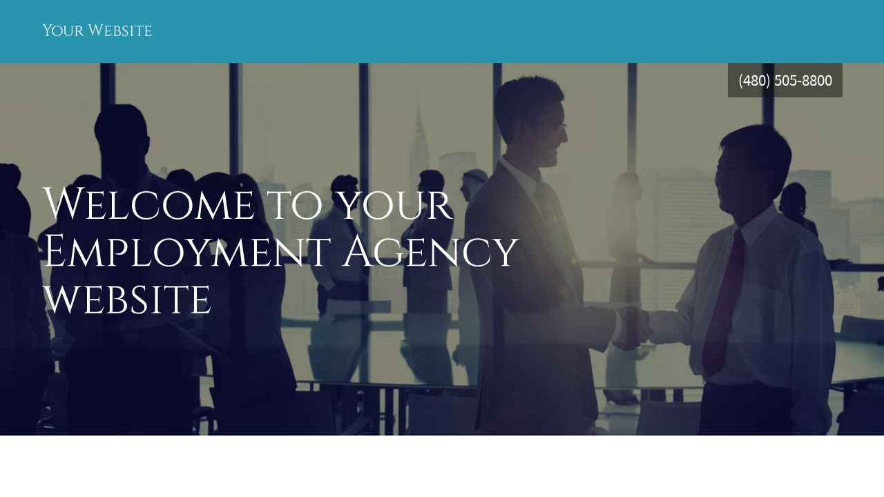 Employment Agency Website: Example 1