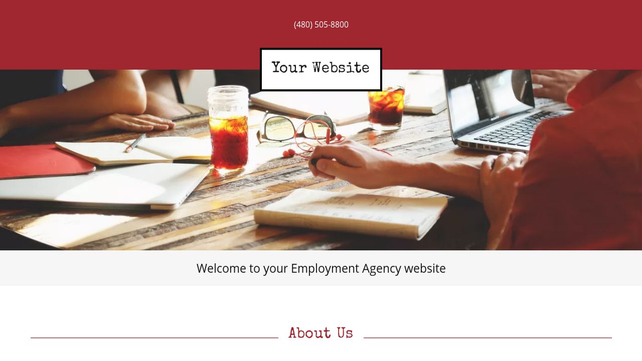 Employment Agency Website: Example 11