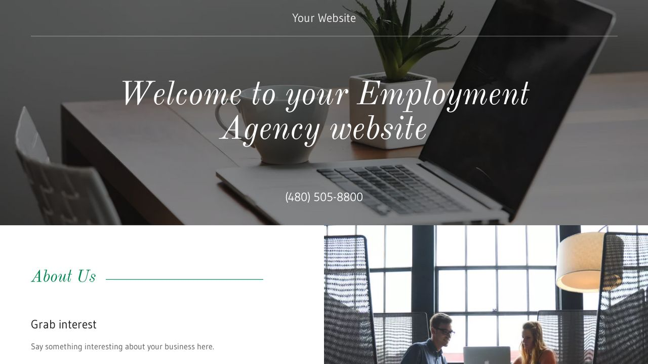 Employment Agency Website: Example 13