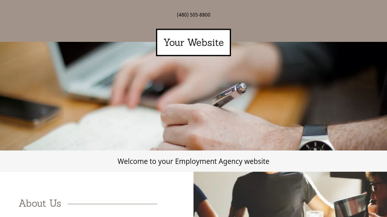 Employment Agency Website: Example 18