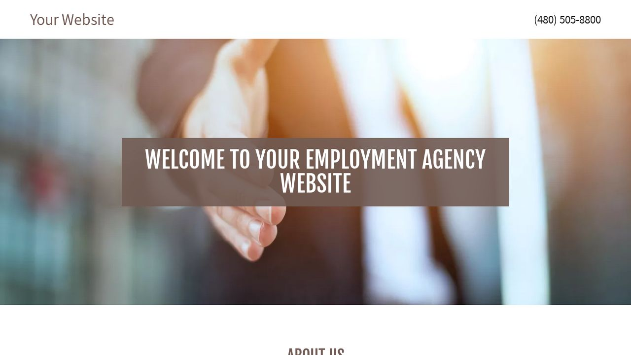 Employment Agency Website: Example 2