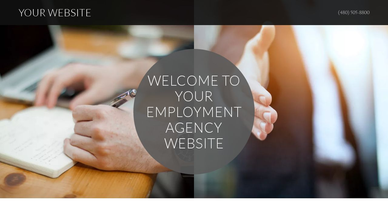 Employment Agency Website: Example 5