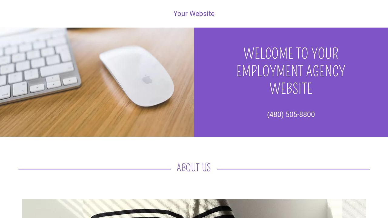 Employment Agency Website: Example 7