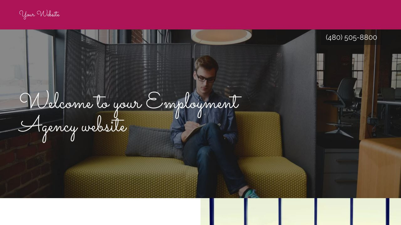 Employment Agency Website: Example 8