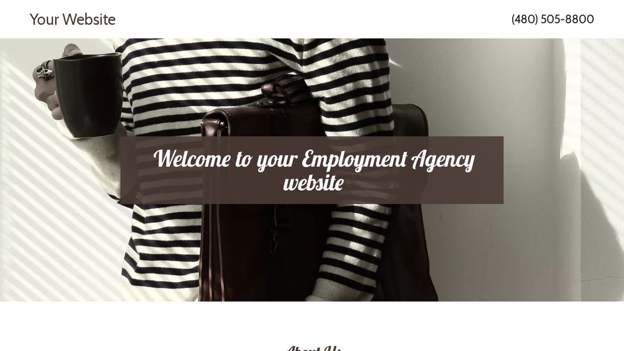 Employment Agency Website: Example 9