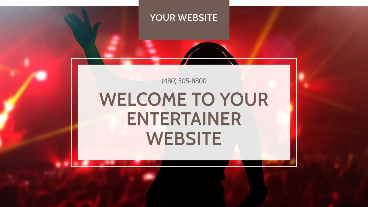 Entertainer website templates godaddy entertainer example 11 magicingreecefo Images